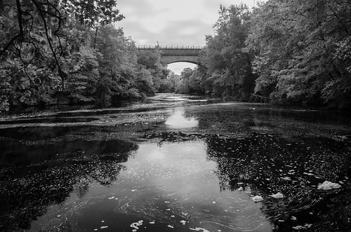 bw bridge river charlesriver hemlockgorge hemlockgorgereservation echobridge reflection monochrome blackandwhite wellesley newton needham polarizer