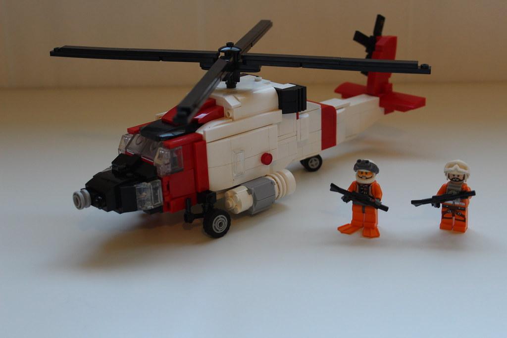 LEGO United States Coast Guard Jayhawk Helicopter MOC   Flickr