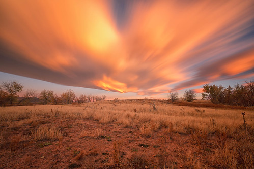 sunrise dawn daybreak clouds light sky field trees landscape chatfieldstatepark colorado longexposure