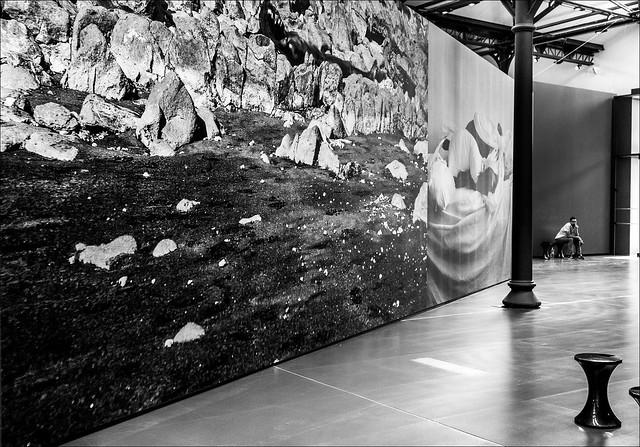 Les allées de l'exposition / Paths in the exhibition