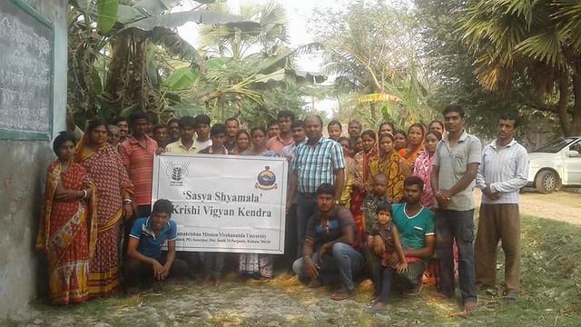 4 days training on Seed Production Techniques of Oilseed Crops organised by SASYA SHYAMALA KVK, RKMVERI in Charavidya village of Basanti Block