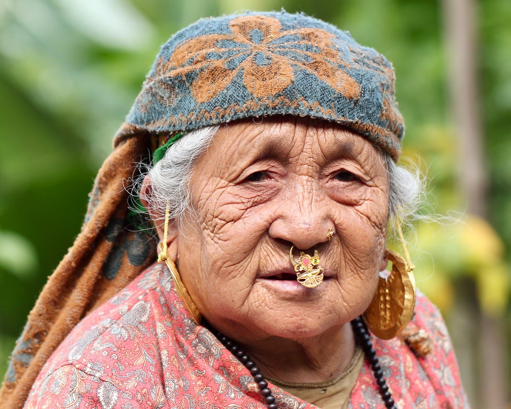 Grand Old Dame of Sikkim | Portrait: elderly woman of Nepali… | Flickr