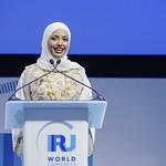 Hiyam Al Jabri during Plenary 3 session at IRU World Congress