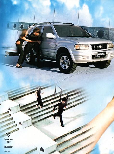 2000 UE Holden Frontera SUV 4WD Wagon Page 1 Aussie Original Magazine Advertisement