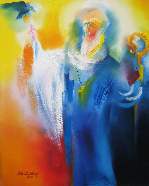 Saint Benedict. 2018 by Stephen B. Whatley