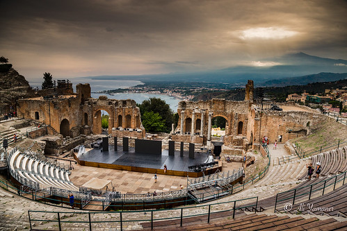 etna taormina greek teather teatro antico di view landscape outddor sea italy sicily sicilia greatphotographers