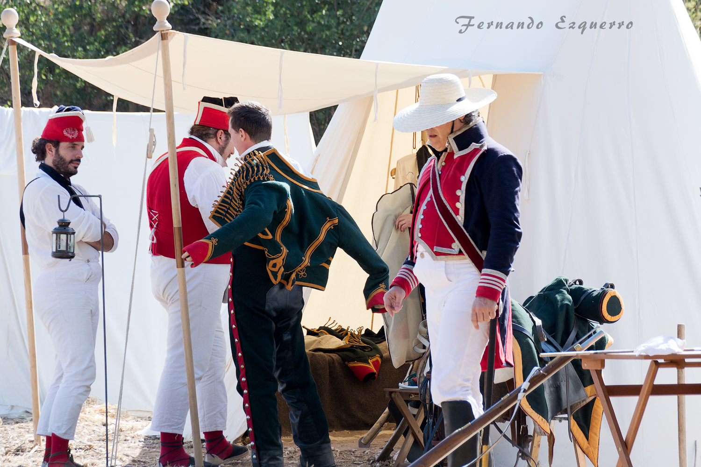 Recreación de la ocupación del castillo de la Villa de Muel por las tropas francesas tras la capitulación de Zaragoza en 1809