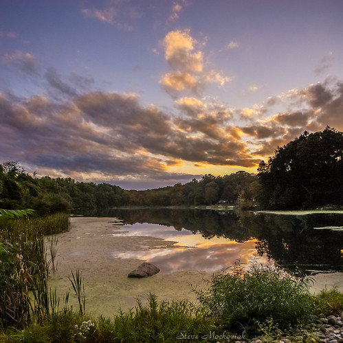 smack53 nosenzopond westmilford newjersey sunset clouds water pond sky evening eveningsky outside outdoors autumn autumnseason fall fallseason nikon d100 nikond100 reflections lake