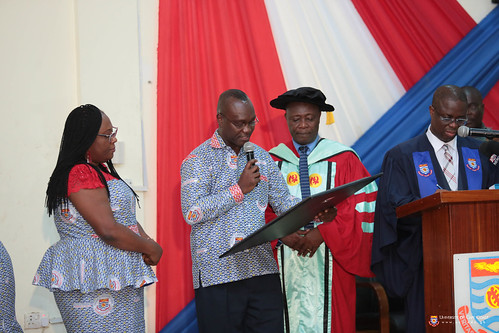 Prof Oduro being acknowledged by Institute for Educational Planning and Administration, University of Cape Coast
