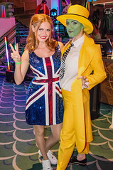 Sophie Evans as Ginger Spice Geri Halliwell, and Alice Fearn as Jim Carrey's The Mask DSC_0098