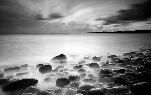 landscape seascape atlantic ocean sky water stones rock beach canon photography ireland