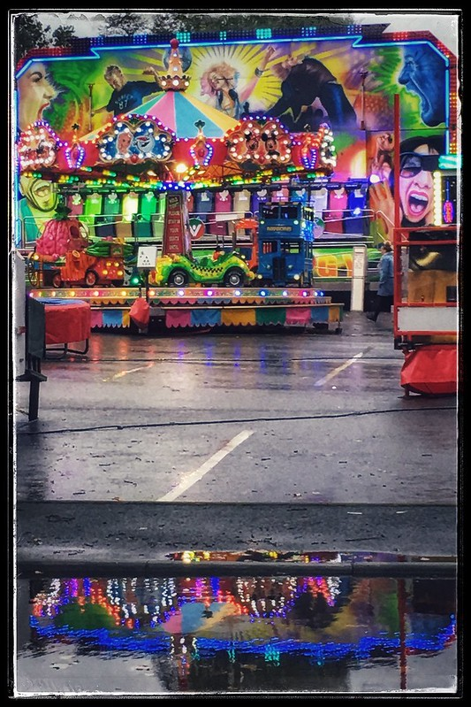 Rainy day fairground ....