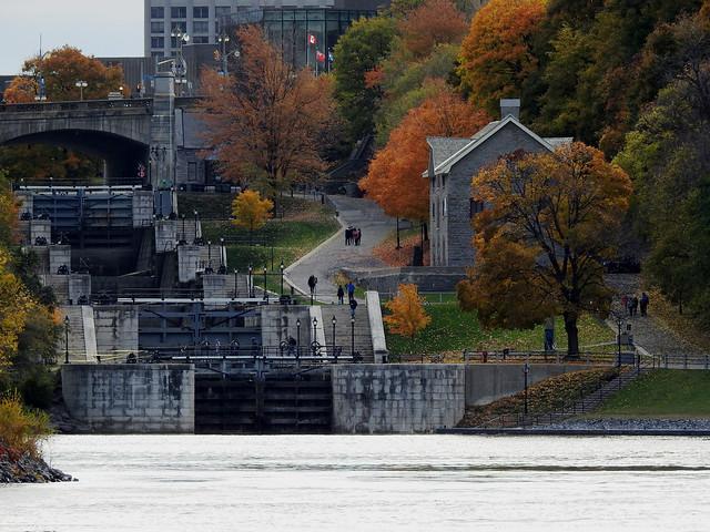 Locks 1-8 of the Rideau Canal in Ottawa, Ontario
