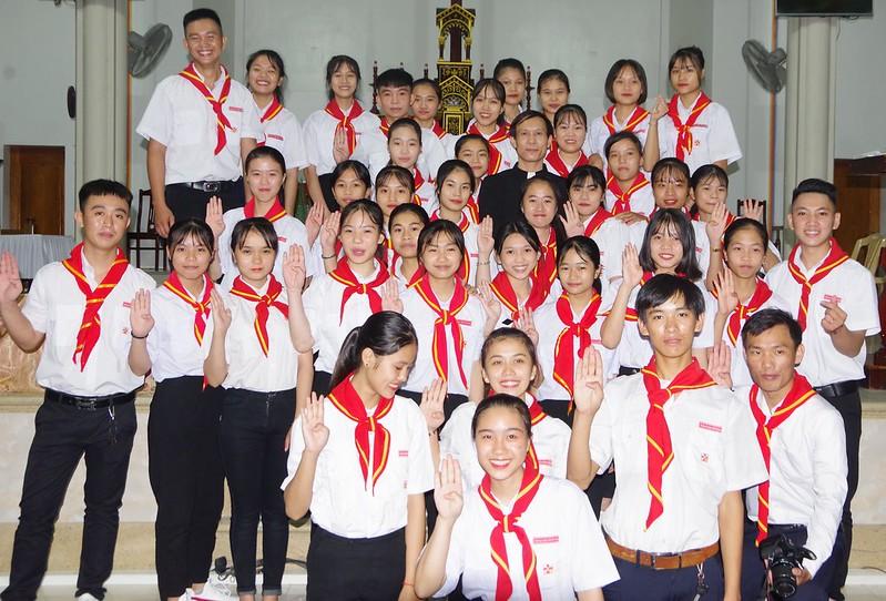 Lễ ra mắt TNTT xứ  đoàn Đa Minh Tân Phong, QB (24)