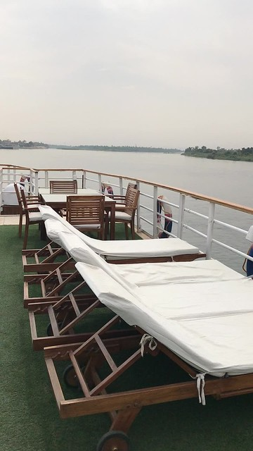 Our deck, Radamis Floating Hotels (from Luxor to Aswan), Nile River, Egypt.