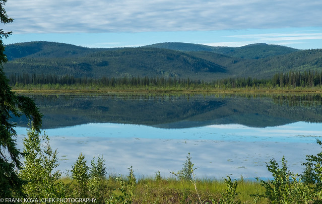 Highway Lake, very close to the border crossing into Alaska