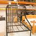 Black metal triple bunk bed E215