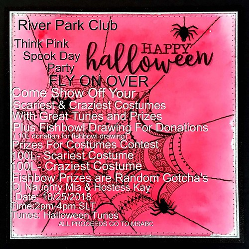 Dj Naughty Mia's Think Pink Spook Day Party Invitation | by lealaspire