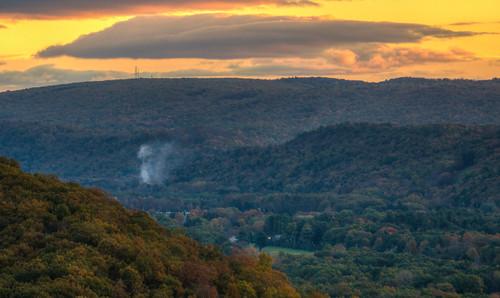 sunrise mountain sun landscape newyork appalachian mountains ny portjervis port jervis