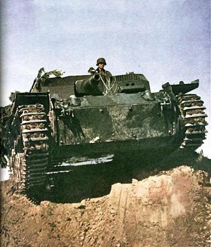 Tyska självgående artilleri StuG III
