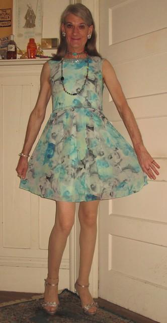 Aqua-party-dress