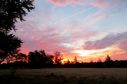 sunrise clouds whitehouse station nj pink white blue