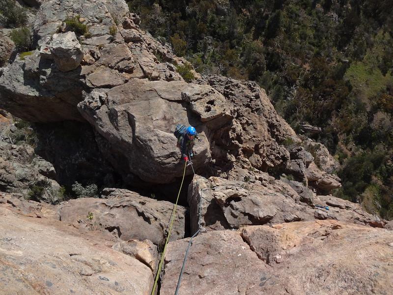 Übertritt auf den Gipfelkopf.