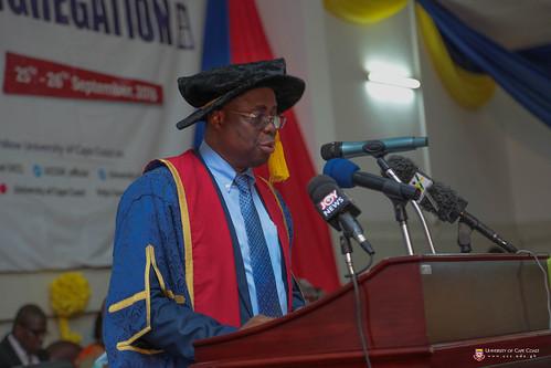 Prof. Joseph Ghartey Ampiah, Vice-Chancellor, University of Cape Coast, giving his address.