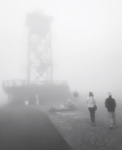 summit julie mist monochrome monochromatic bw blackandwhite firetower observationtower mountwachusett wachusettmountainstatereservation foggy fog
