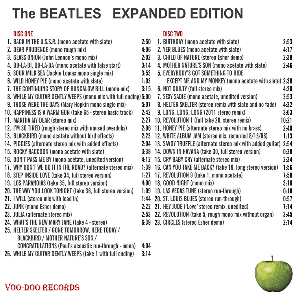 The Beatles - White Album Expanded Edition Voo Doo Records