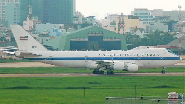 USAF Boeing E-4B 74-0787 #DRAGN25 from Andrews AFB (ADW/AAFB) to Paya Lebar AB (QPG/WSAP) via Ho Chi Minh (SGN/VVTS).
