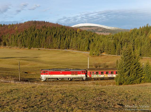 757.009 ZSSK, REx 1780 Kraľova hoľa,  Vernár - Telgárt penzión (Slovakia)