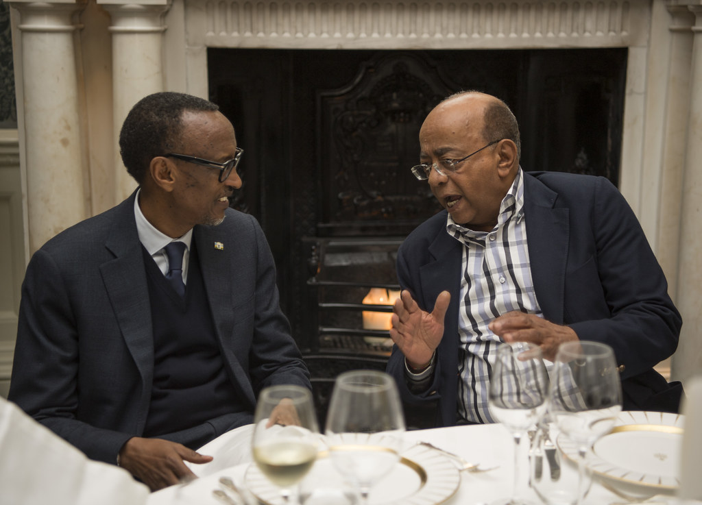 President Kagame attends Mo Ibrahim Foundation Dinner in London ahead of the Foundation's board meeting | London, 6 October 2018