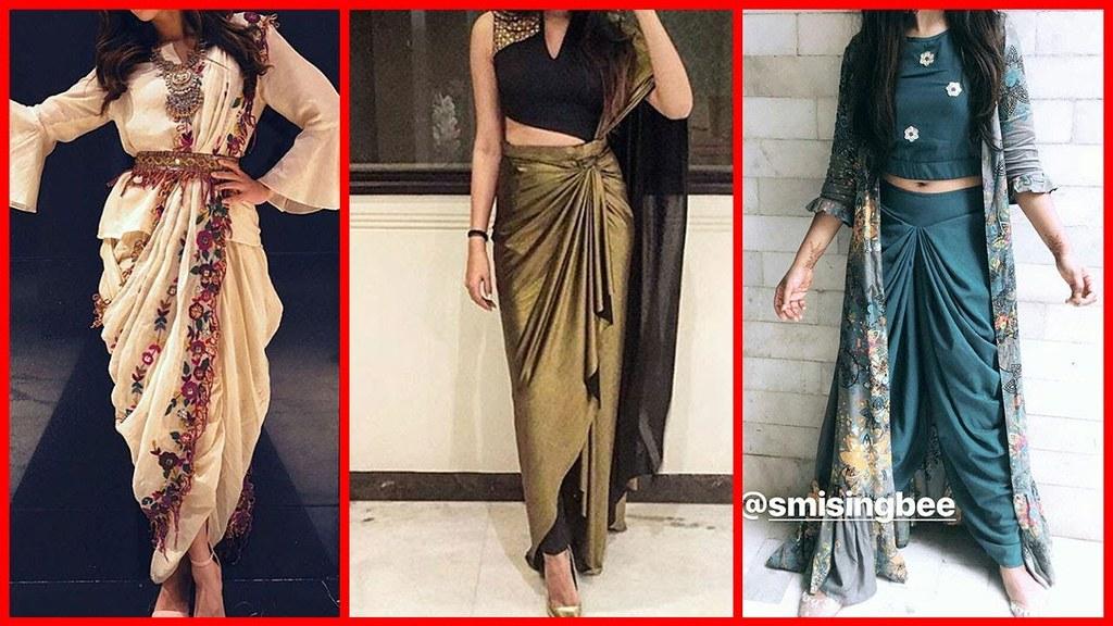 Beautiful Stylish Draped Dress Dhoti Style Kurti Designs 2018 2019 A Photo On Flickriver