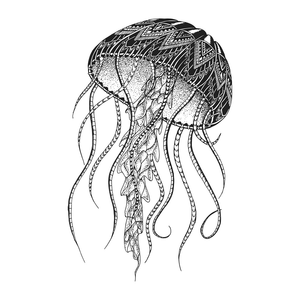 ee92e9846 Patterned jellyfish. Tattoo design. It may be used for des… | Flickr