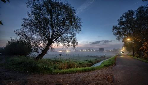 haarlem noordholland nederland nl schalkwijk ringvaart sunrise cffaa