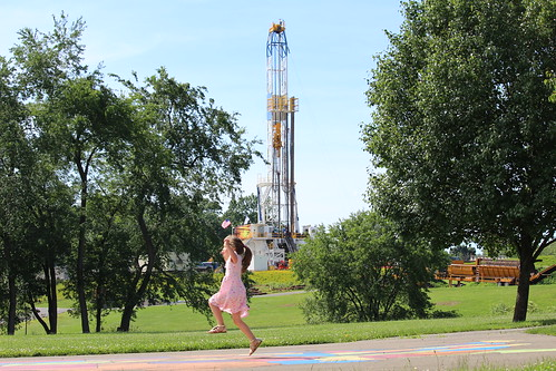 Pennsylvania playground near a well pad | by Moms Clean Air Force