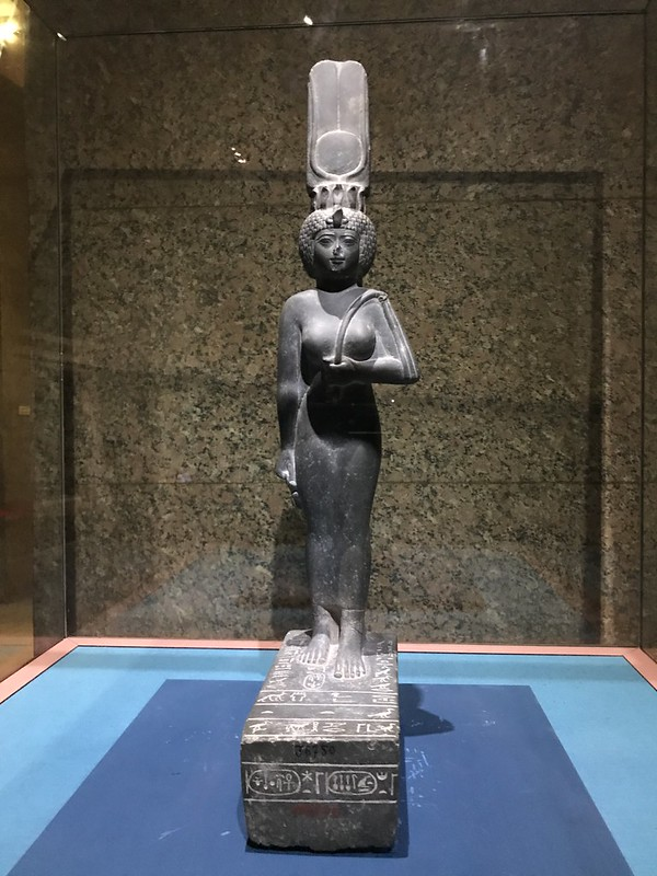 The Statue of Isis, the International Museum of Nubia, Aswan, Egypt.