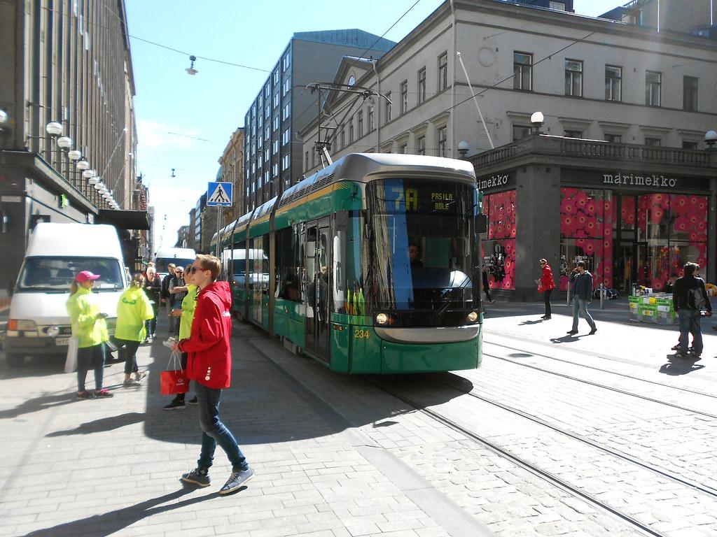 Хельсинки. Улица Aleksanterikatu.