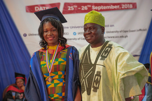 Hon. Femi Michael Abikoye, Nigerian High Commissioner to Ghana, with a Nigerian award winner at the 3rd Session of the 51st Congregation.