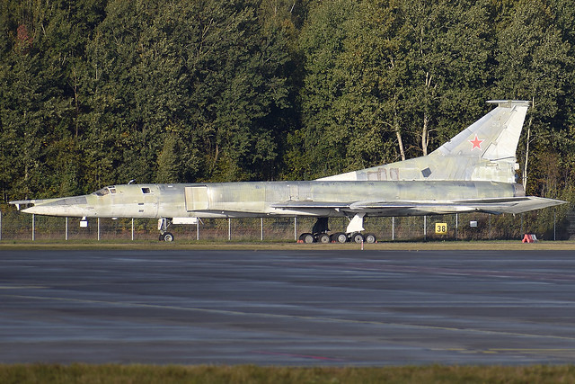 53 RED Ex Russian Air Force Tupolev Tu-22M1 Blinder Preserved at Riga International Airport on 3 October 2018