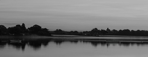panoramic mistymorning mist emsworthharbour langstone mono monochrome boats silhouettes