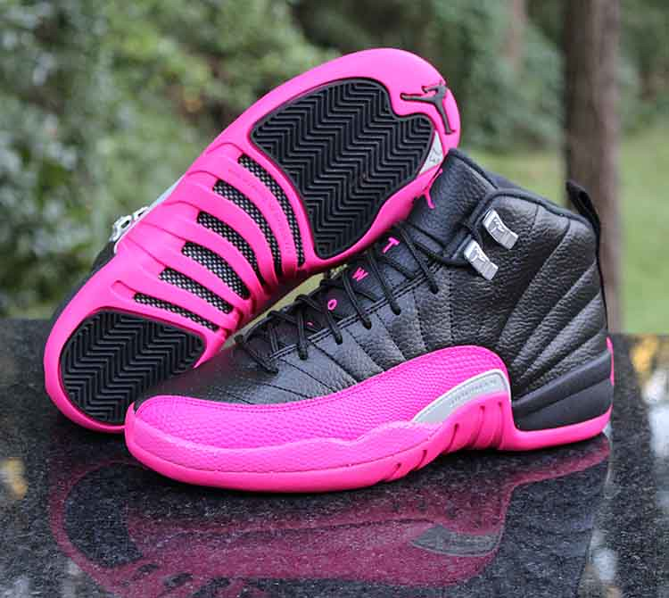 innovative design eb8ac 4e747 Air Jordan 12 Retro GG Playoffs Black Deadly Pink Silver 5 ...