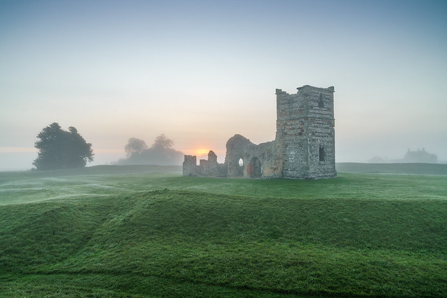 Knowlton Church mist