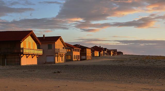 Derniers rayons de soleil sur la dune