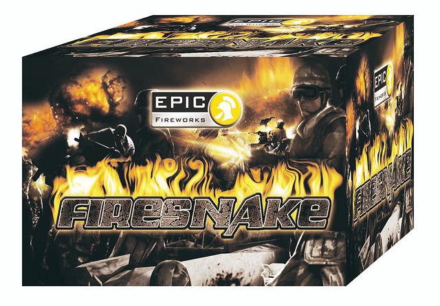 FIRE SNAKE 100 SHOT MISSILE CAKE #EpicFireworks