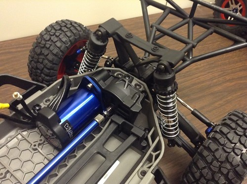 Replaced back springs. The suspension may look front heavy until more components are added to the car.
