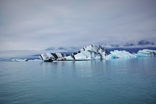 Iceland   The eternal ice of the glacier lagoon