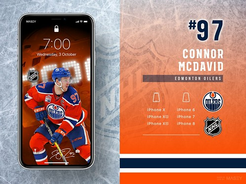 #97 Connor McDavid (Edmonton Oilers) iPhone Wallpapers   by Rob Masefield (masey.co)