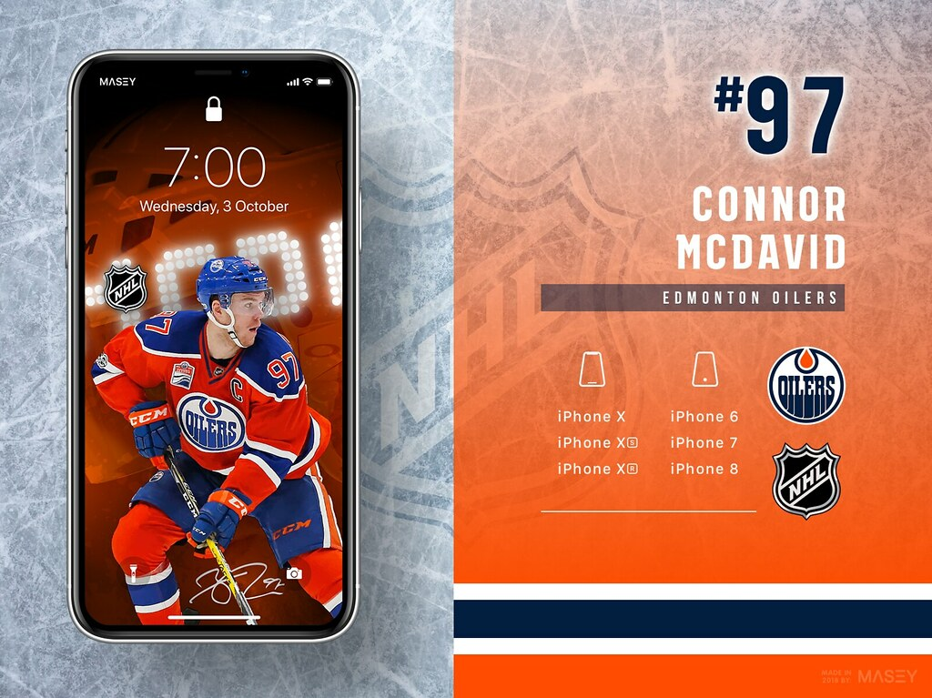 Connor McDavid (Edmonton Oilers) iPhone Wallpaper